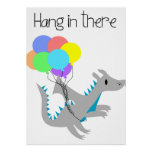 Cute hang in there DRAGON office poster