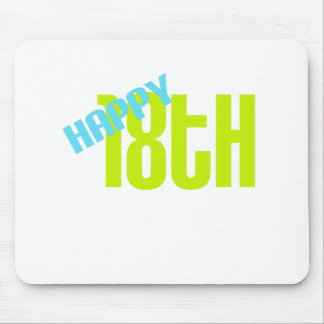 Cute Happy 18th Birthday Mouse Pad
