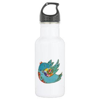 Cute happy bird 532 ml water bottle