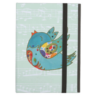 Cute happy bird iPad air case