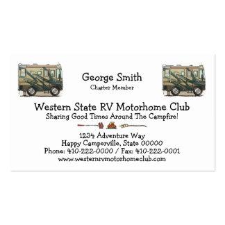 Cute Happy Camper Big RV Coach Motorhome Business Cards