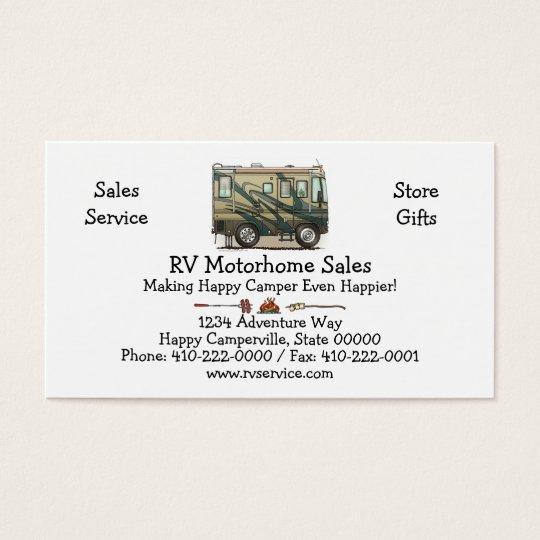Cute Happy Camper Big RV Coach Motorhome Business
