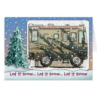 Cute Happy Camper Big RV Coach Motorhome Cards