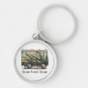 Happy Camper RV Keychain Camping Jewelry Home is Where You