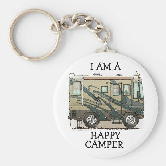 Cute Happy Camper Big RV Coach Motorhome Key