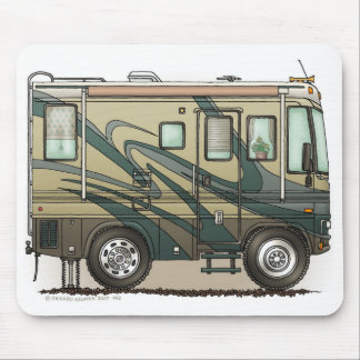 Cute Happy Camper Big RV Coach Motorhome Mouse Mat