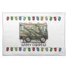 Cute Happy Camper Big RV Coach Motorhome Placemat