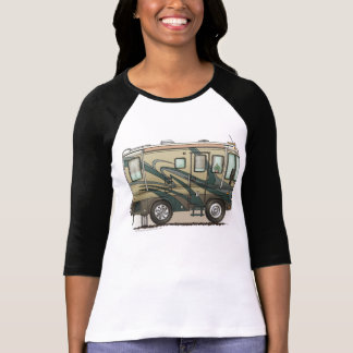 Cute Happy Camper Big RV Coach Motorhome T-Shirt