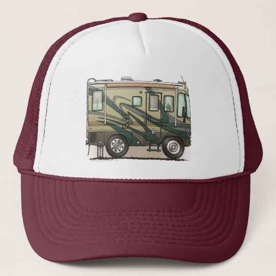 Cute Happy Camper Big RV Coach Motorhome Trucker