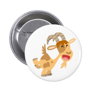 Cute Happy Cartoon Goat Buton Badge