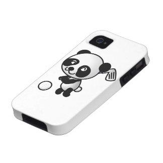 Cute Happy Cartoon Panda Bear Swinging Golf Club iPhone 4/4S Case