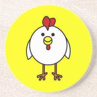 Cute Happy Chicken Coaster
