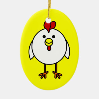 Cute Happy Chicken Customizable! Christmas Ornament