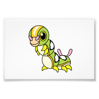 Cute Happy Colorful Caterpillar Photo Print