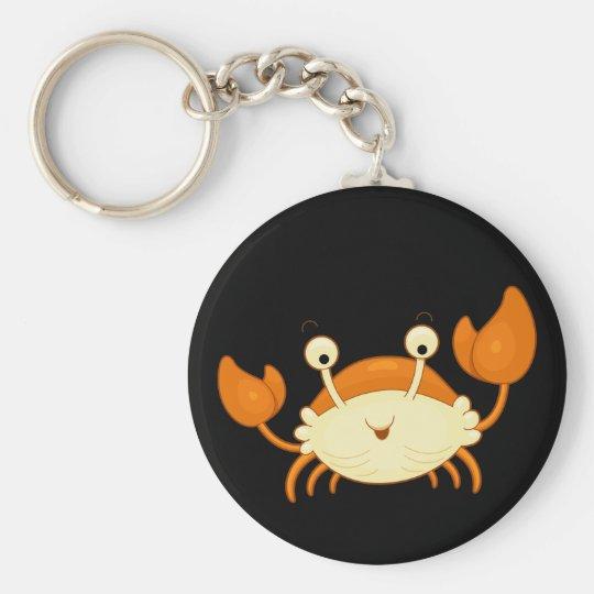 Cute Happy Crab Key Ring