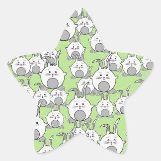 cute happy crowd star sticker