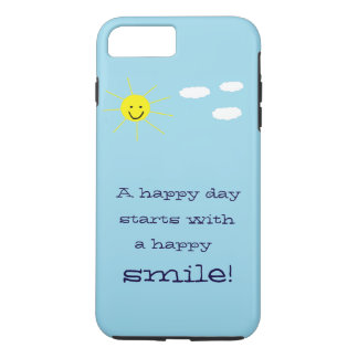 Cute Happy Day Smiling Sun Blue Sky Design iPhone 8 Plus/7 Plus Case
