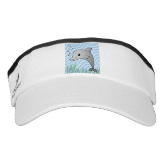 Cute Happy Dolphin Visor