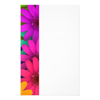 Cute Happy Face Flowers Stationery