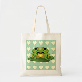 Cute & Happy Frog Budget Tote Bag
