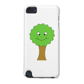 Cute Happy Green Tree. On white. iPod Touch 5G Case
