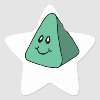 Cute Happy Green Triangle Star Sticker