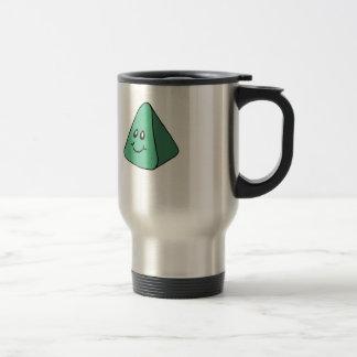 Cute Happy Green Triangle Travel Mug