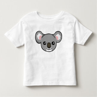 Cute Happy Grey Koala Face Drawing Toddler Shirt