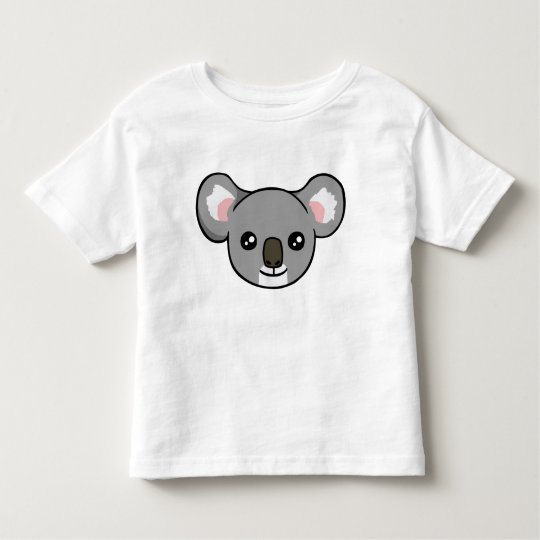 Cute Happy Grey Koala Face Drawing Toddler Shirt