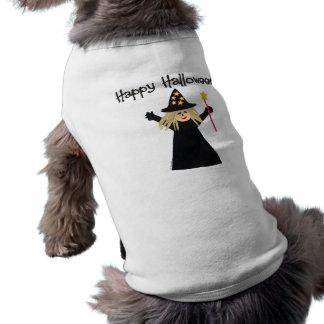 Cute Happy Halloween Witch Doggie Tshirt