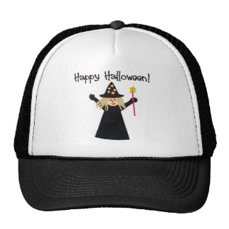 Cute Happy Halloween Witch Mesh Hat