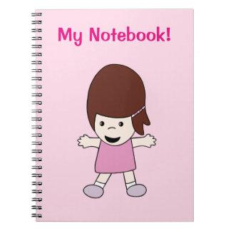 Cute Happy Kawaii Girl Notebook