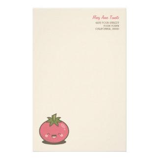 Cute Happy Kawaii Tomato Kids Stationery