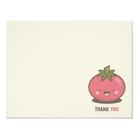 Cute Happy Kawaii Tomato Thank You Card