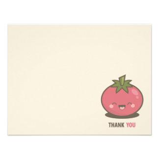 Cute Happy Kawaii Tomato Thank You Personalized Invites