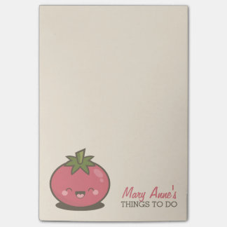 Cute Happy Kawaii Tomato Things to Do Post-it® Notes