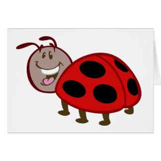 cute happy ladybug card