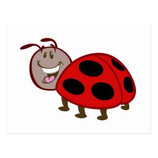 cute happy ladybug postcard