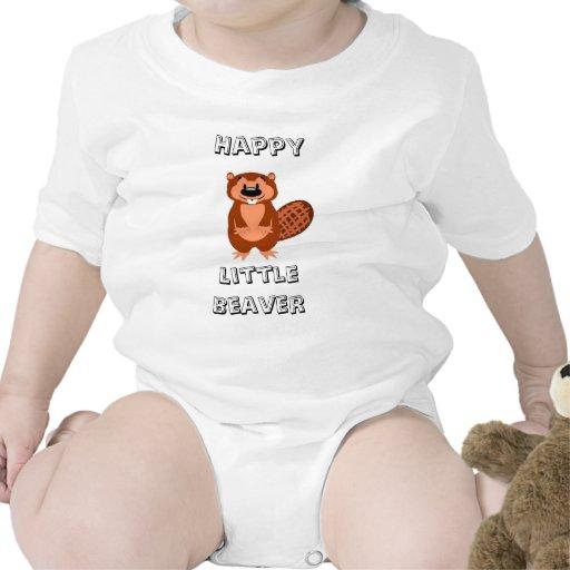 Cute Happy Litte Beaver Shirts