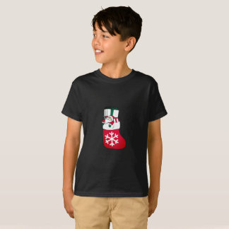 Cute Happy Little Santa Claus in the Sock T-Shirt