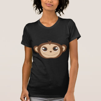 Cute Happy Monkey Cartoon Tee Shirt
