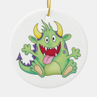 cute happy monster christmas ornament