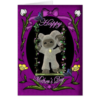 Cute Happy Mother' s Day Card with sheep