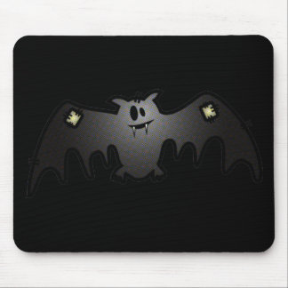 CUTE & HAPPY PATCHY BAT MOUSE PAD