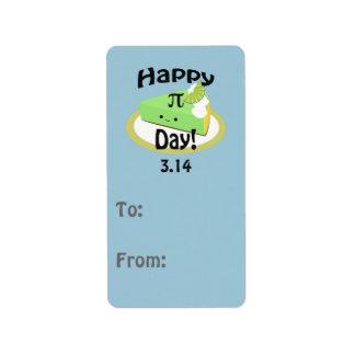 Cute Happy Pi Day Address Label
