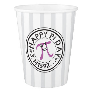 Cute Happy Pi Day - Funny Pi Day Paper Cup