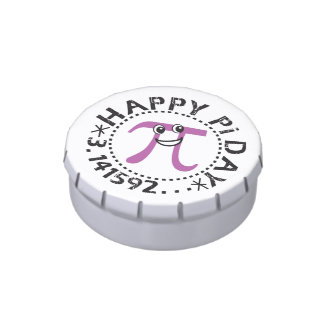 Cute Happy Pi Day - Includes Candy - Pi Day Gift Candy Tins
