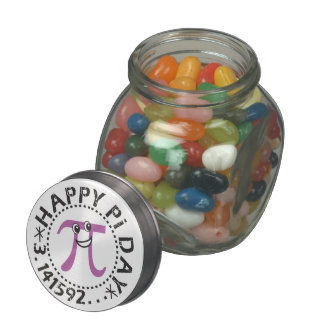 Cute Happy Pi Day - Includes Candy Glass Candy Jars