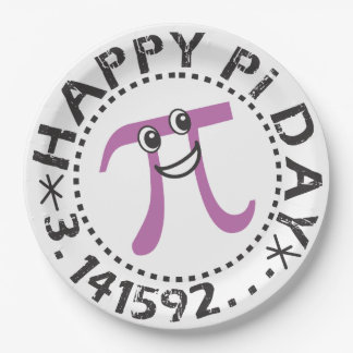 Cute Happy Pi Day © Party Supplies Paper Plate
