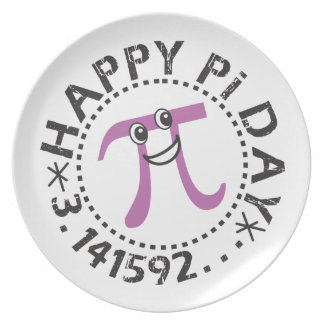 Cute Happy Pi Day Dinner Plates